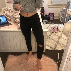 black high rise skinniest pacsun jeans